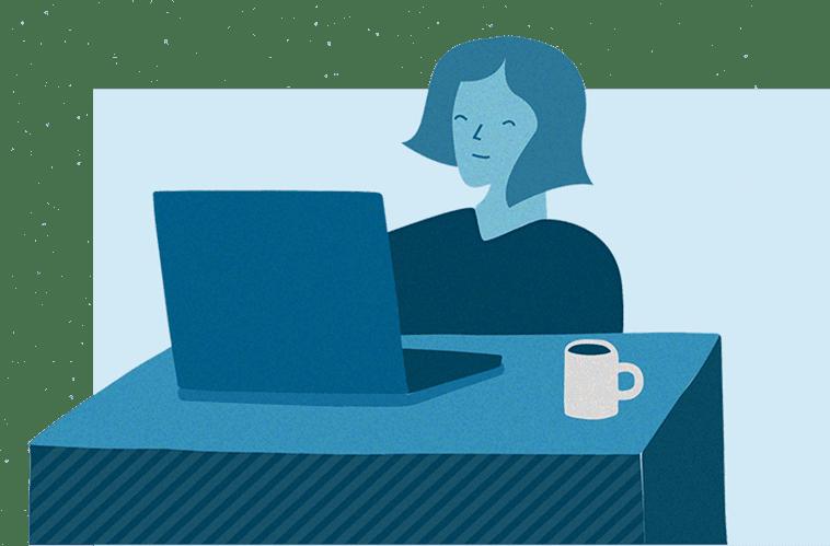 oplossingen afbeelding vrouw aan het werk